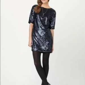 RACHEL Rachel Roy Navy Sequin Dress Sz 6